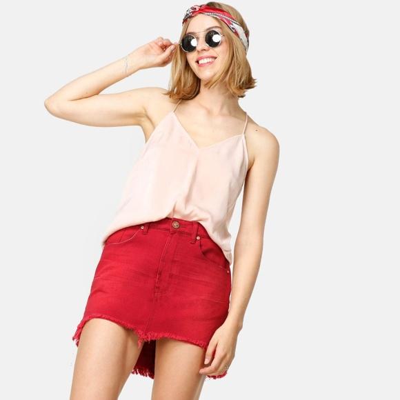 1e8a1155a8ab43 One Teaspoon Skirts   Vanguard Red Envy Mini   Poshmark